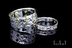 Wedding bands ring. kochut design. White gold. hanmade jewelry. Обручальные кольца. Кованые. Ювелирные украшиения ручной работы.