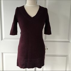 Sweater Dress Perfect with leggings and boots! Size is a large but fits more like a medium. Gently worn with some pilling on sides. Dresses