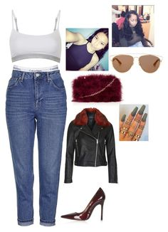 """""""going to the hookah lounge with courtney"""" by colormegourgeos ❤ liked on Polyvore featuring beauty, Topshop and Christian Dior"""