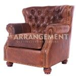 Durango Leather Chair as a recliner