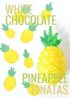White Chocolate Pineapple Pinatas @ForkandBeans