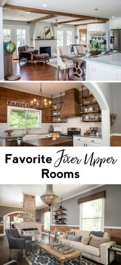 Favorite Fixer Upper rooms   Fixer Upper dining rooms   Fixer Upper Living rooms   Fixer Upper kitchens