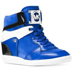 b955a6d9c72d Michael Michael Kors Nikko High-Top Sneakers ( 195) ❤ liked on Polyvore  featuring. Hidden Wedge ...