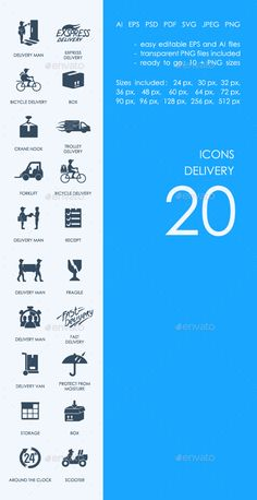 Delivery icons — Photoshop PSD #iOS icons #android icons • Available here → https://graphicriver.net/item/delivery-icons/18041638?ref=pxcr