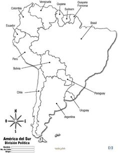 Outline maps for continents countries islands states and more mapa america do sul para colorir gumiabroncs Image collections