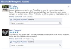 Testimonials and Reviews Click here for our website www.pinoyfirst.com.au