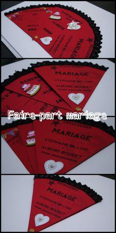 La conception de notre faire-part de mariage en forme d'éventail pour notre thème sur l'Amérique latine  !