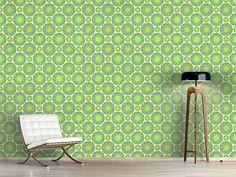 Design #Tapete Grüne Murmeln