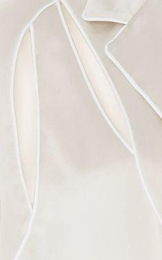 Cream Deconstructed Pajama Shirt by Alexander Wang for Preorder on Moda Operandi