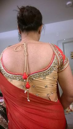 stunning Golden blouse with beautiful kundan work and by Sravams Beautiful Women Over 40, Beautiful Girl Indian, Most Beautiful Indian Actress, Beautiful Saree, Indian Girl Bikini, Indian Girls Images, Wedding Dresses For Girls, Beauty Full Girl, Indian Beauty Saree