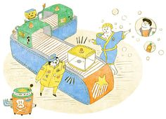 Illustration for children's newspaper : 娃娃魚星際奇航2