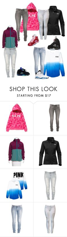 """Goldie✨"" by laylakristion on Polyvore featuring A BATHING APE, The North Face, Victoria's Secret, Lee and Retrò"