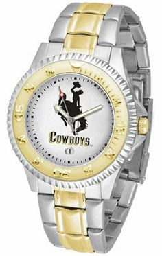 Wyoming Cowboy Joe- University Of Competitor - Two-tone Band - Men's - Men's College Watches by Sports Memorabilia. $87.08.