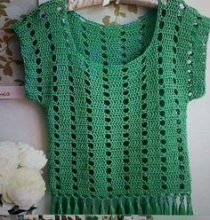 Crochet Cap Crochet Tunic Crochet Clothes Knitting Patterns Crochet Patterns Fabric Yarn Cosas A Crochet Crochet For Kids Baby Dress Crochet Tunic Pattern, Crochet Blouse, Knitting Patterns, Crochet Patterns, Top Pattern, Crochet Bikini, Cotton Crochet, Crochet Lace, Crochet Summer