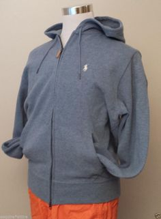 POLO Ralph Lauren men size M full zip (two way zipper) men hoodie