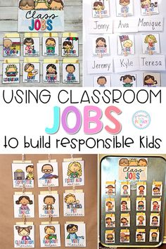 Encourage students to take part in daily classroom responsibilities and turn your classroom management strategy into a positive one. Teach primary kids to be helpful, responsible, and organized with these classroom activities and job chart. Classroom Job Chart, Classroom Jobs, Classroom Environment, Classroom Activities, Classroom Organization, Kindergarten Job Chart, Classroom Helpers, Classroom Procedures, Teaching Activities