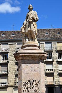 Dijon (Côte-d'Or) - Statue de Jean-Philippe Rameau