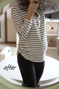 how to make a regular shirt maternity friendly!