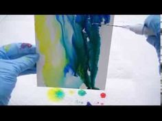 By Carolyn Opderbeck. Video #3. Learn how to Pour ink, tilt and turning to blend colors and form patterns, stop the flow of ink and eliminate unwanted dark ridges. This video demonstrates Assignments 4-7 and contains the methods and techniques Carolyn Opderbeck uses to create her alcohol ink paintings