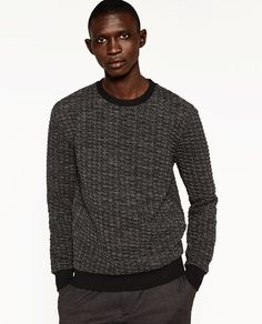 Image 2 of QUILTED SWEATSHIRT from Zara