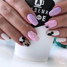 Elegant Nail Designs, Elegant Nails, Stylish Nails, Trendy Nails, Disneyland Nails, Disney Acrylic Nails, Mickey Mouse Nails, Nagellack Design, Luxury Nails