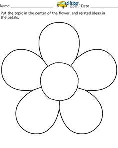 five petal flower template