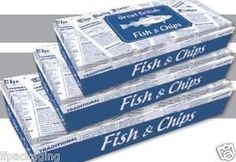 Great British Fish AND Chips Paper Boxes HOT Food Takeaway Packaging X 100 | eBay