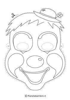 Maschere di supereroi da colorare per bambini carnevale for Pianetabambini it maschere di carnevale