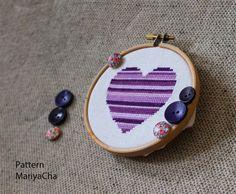 purple cross stitch pattern...paint it?