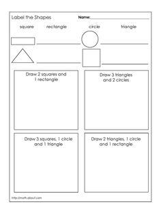 Grade 1 geometry worksheets. First grade math. Geometry worksheets ...