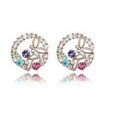 Swarovski Elements Earrings - Dancing Butterfly - Promotional Offers- - TopBuy.com.au