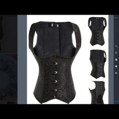 Corset Sexy black bustier. Brand new. Tops