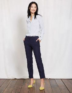 Boden Richmond 7/8 Trousers Navy Women Boden, Navy World: meet ankles. Legs: meet a seriously improved fit. These stylish ankle-skimmer trousers are a smart alternative to jeans, perfect for teaming with a button-down chambray shirt during the week or http://www.MightGet.com/april-2017-1/boden-richmond-7-8-trousers-navy-women-boden-navy.asp