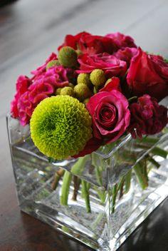 Flower Arrangement in Mauve and Green @ Splendid Affairs Wedding Planning Company