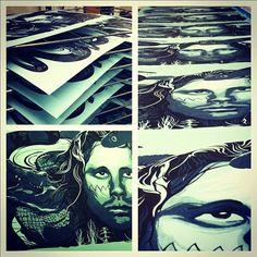 #deadrockstars #jimmorrison #art #screenprinting #posters #fashion