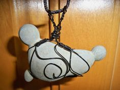 Tophatter : My Items For Sale    Wire wrapped Clay Baby concretion. Can be used as wall hanging or small enough to wear as a necklace.