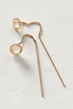 Liven Co. Diamond Threaded Earrings in 14k Gold #anthroregistry