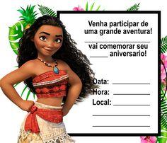 convite moana para editar e imprimir Moana Birthday Party Theme, Festa Moana Baby, Baby Girl Names Unique, Princesas Disney, Lala, Milena, 139, Amanda, Geek