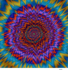 Psychedelic centralized pattern - floral shaped design. Pattern Floral, Fractal Patterns, Fractals, Psychedelic, Illustration, Floral Design, How To Draw Hands, Mandala, Images