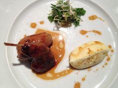 L'Atelier de Jöel Robuchon, quail stuffed w/foie gras.