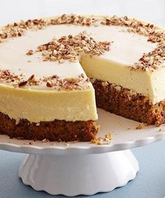 Carrot Cake Cheesecake. We didn't think our two favorite things were possible to exist together and now...they do! YES!