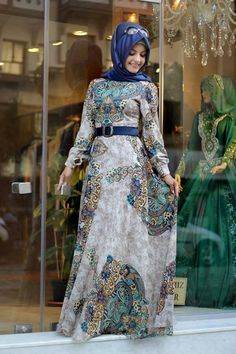 latest Muslimah abaya and hijab fashion for women (4)
