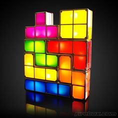 Tetris Lamp Reconfigures On The Fly - yes, a million times yes. The blocks illuminate as long as one of their blocks are are touching each other.