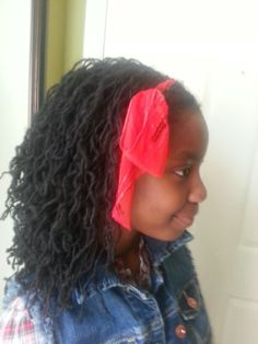 Girls Sisterlocks hair accessories.