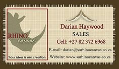 BUSINESS CARD DESIGN - Rhino Canvas South Africa