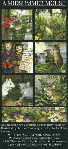 'A Midsummer Mouse' Flyer http://www.bwthornton.co.uk/a-midsummer-mouse.php