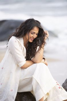 Anushka Shetty New Photos in White Dress