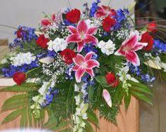 Colored #flower #arrangements for #funerals