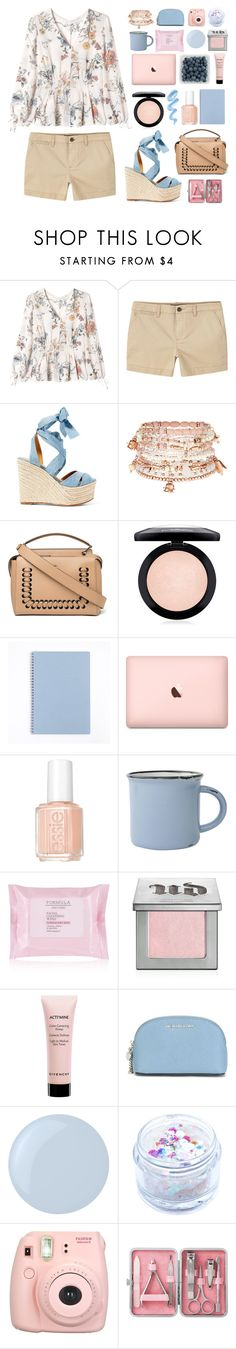 """""""soft"""" by oubliettte ❤ liked on Polyvore featuring Rebecca Taylor, MANGO, Ralph Lauren, Accessorize, Fendi, MAC Cosmetics, Essie, canvas, Urban Decay and Givenchy"""