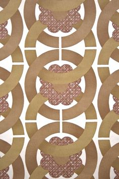 Geometric Retro Vinyl Wallpaper